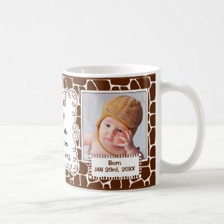 Tía orgullosa estampado de girafa con las fotos taza de café