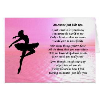 Tía Poem - bailarina Felicitación