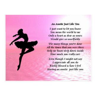 Tía Poem - bailarina Postal