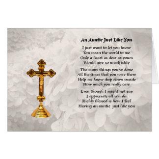 Tía Poem - diseño cruzado de oro Felicitación