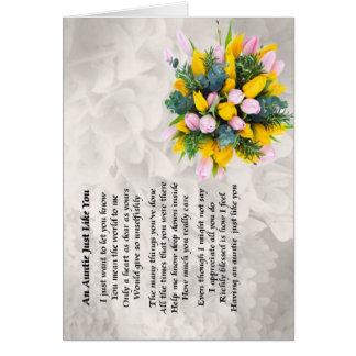 Tía Poem - diseño de las flores Tarjeton