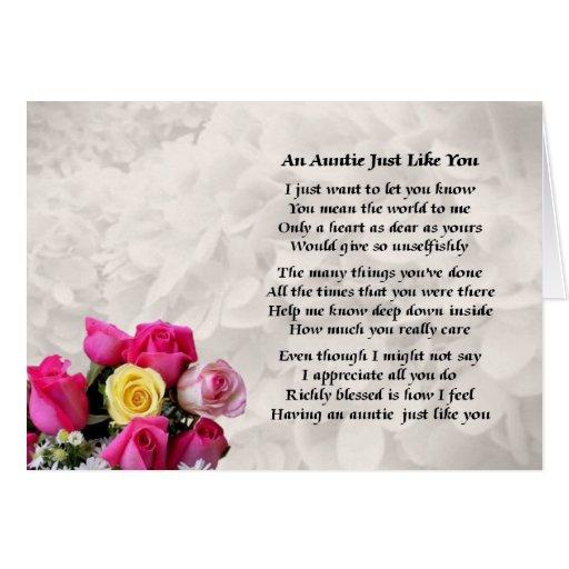 Tía Poem - diseño de los rosas Tarjetas