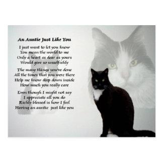 Tía Poem - diseño del gato Postal