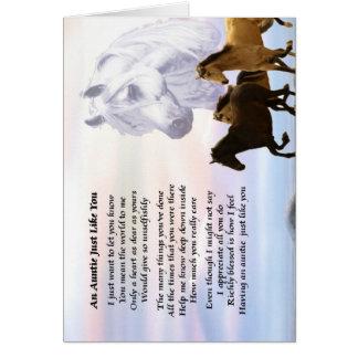 Tía Poem Horses Tarjeta
