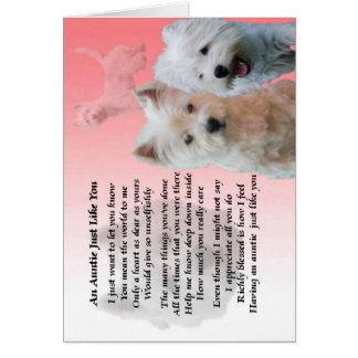 Tía Poem - Westie Tarjeta