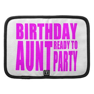 Tía Ready del cumpleaños para ir de fiesta Organizador