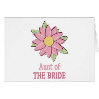 Tía rosada de la novia de la flor tarjeta de felicitación