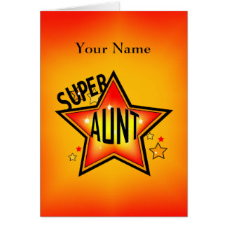 Tía Super Star Greeting Felicitacion
