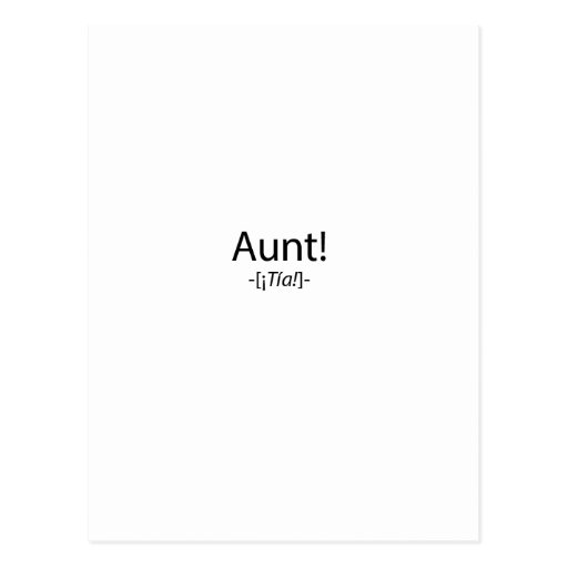¡Tia! Postales