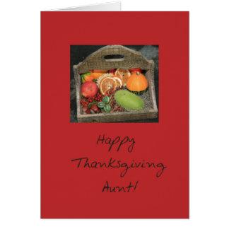 Tía Thanksgivingcard Tarjeta De Felicitación