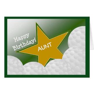 ¡Tía - tía cariñosa del golf del feliz cumpleaños! Tarjeta De Felicitación