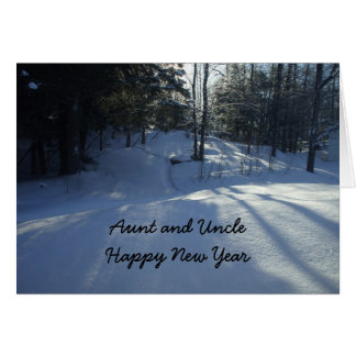 Tía y Año Nuevo Tío-Feliz Tarjeta De Felicitación