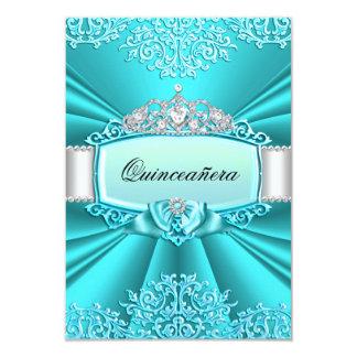 Tiara del trullo y invitación de Quinceanera del Invitación 8,9 X 12,7 Cm