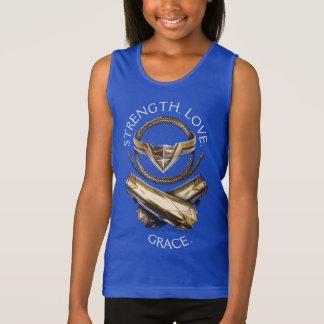 Tiara, lazo, y pulseras de la Mujer Maravilla Camiseta De Tirantes