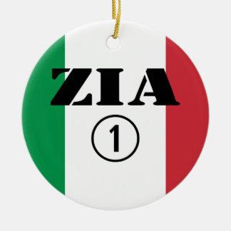 Tías italianas: Uno de Zia Numero Adorno Redondo De Cerámica