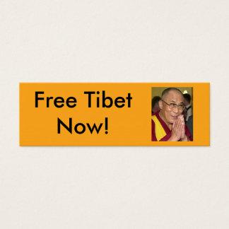 ¡Tíbet libre ahora! Tarjeta De Visita Pequeña