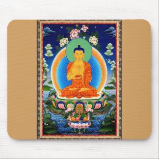 Tibetano Thangka Prabhutaratna Buda Alfombrilla De Ratón