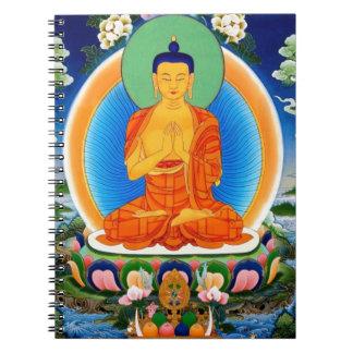Tibetano Thangka Prabhutaratna Buda Libretas Espirales