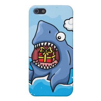 Tiburón con el presente iPhone 5 fundas