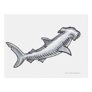 Tiburón de Hammerhead Postal