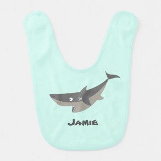 Tiburón de la diversión babero