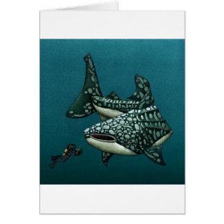 Tiburón de la tarjeta de Navidad