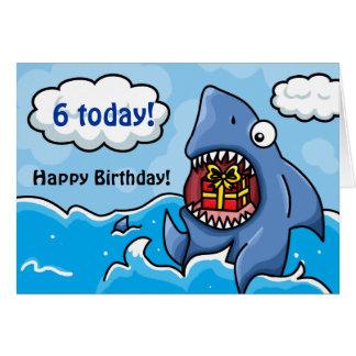 Tiburón del cumpleaños tarjeta de felicitación