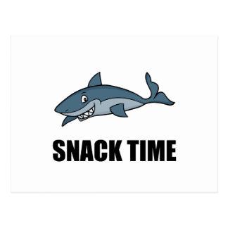 Tiburón del tiempo del bocado postal