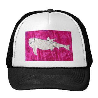 tiburón en papel rosado gorro de camionero