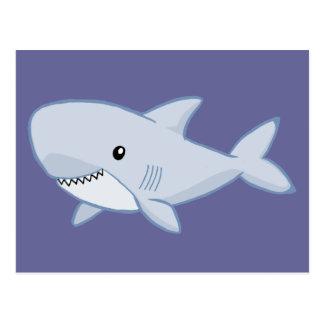 Tiburón lindo postal
