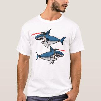 Tiburones con los rayos laser de Friggin Camiseta