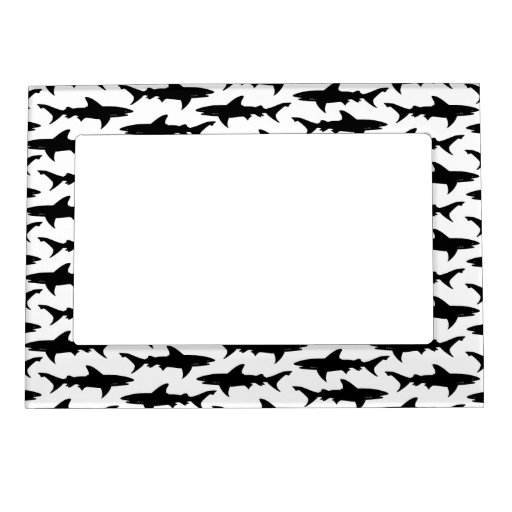 Tiburones - modelo blanco y negro elegante del tib foto de imanes