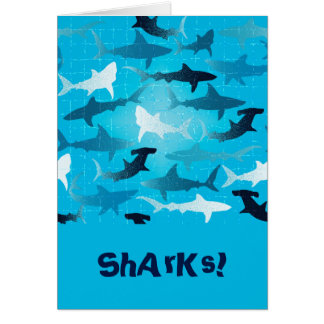 ¡tiburones! tarjeta