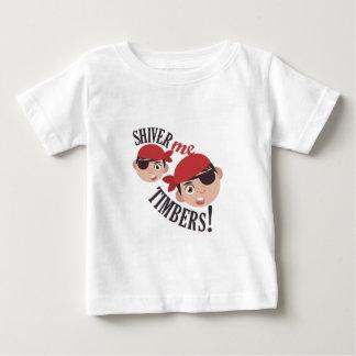 Tiembla las maderas camiseta de bebé