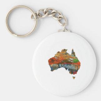 Tiempo australiano llavero redondo tipo chapa