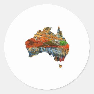 Tiempo australiano pegatina redonda