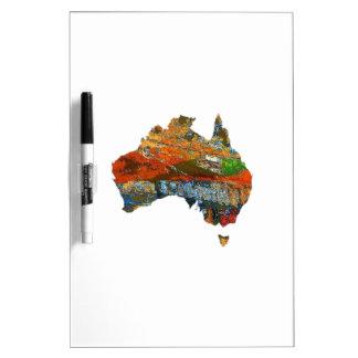 Tiempo australiano pizarra blanca