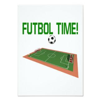 Tiempo de Futbol Invitación Personalizada