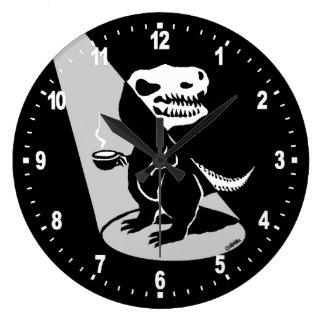 Tiempo de la demostración de Rex del té Reloj Redondo Grande