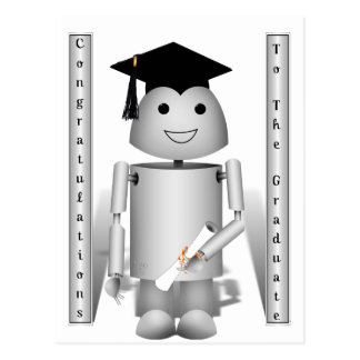 ¡Tiempo de la graduación para Robo-x9! Postal