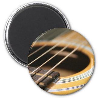 Tiempo de la guitarra imán redondo 5 cm