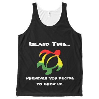 Tiempo de la isla de Rasta… Camiseta De Tirantes Con Estampado Integral