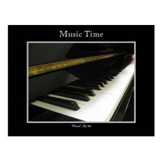 Tiempo de la música (piano) postales
