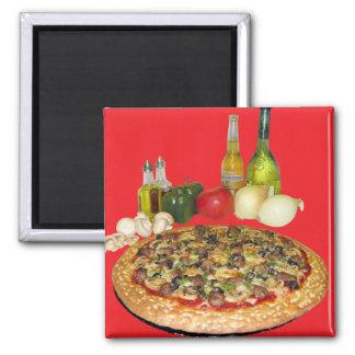 Tiempo de la pizza imán