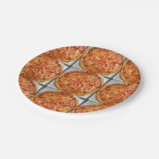 ¡Tiempo de la pizza! Plato De Papel