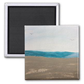 Tiempo de la playa imanes