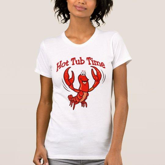 Tiempo de la tina caliente de los cangrejos camiseta