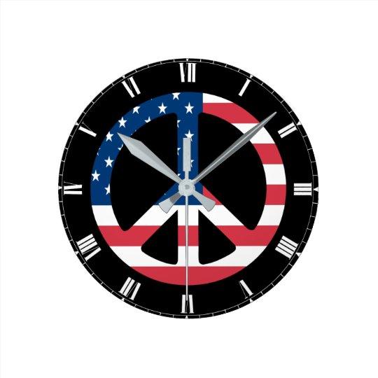 Tiempo de paz reloj redondo mediano