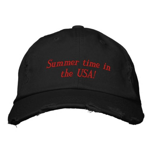 ¡Tiempo de verano en los E.E.U.U.! Gorra De Béisbol