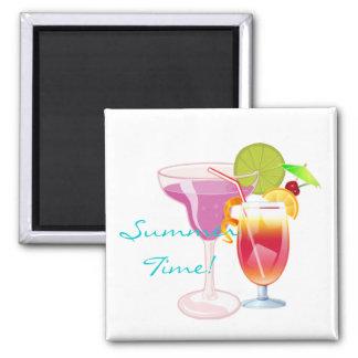 ¡Tiempo de verano! Imán Cuadrado
